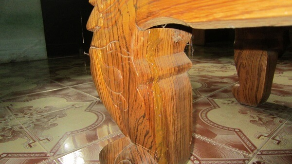 Cách xử lý gỗ bị nứt rạn